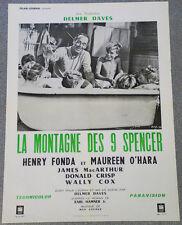 Affiche de cinéma : LA MONTAGNE DES NEUF SPENCER de DELMER DAVES