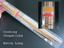 2 COOKING CHOPSTICKS ~ Extra Long for Safety! Must have for serious home chefs