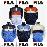Fila Mens Vintage 80s Style Tracksuit Track Jacket Top Adults S,M,L,XL NEW Retro