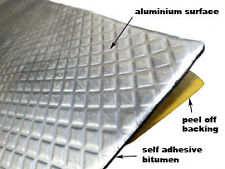 "Automotive ""Bitumen + Aluminium self adhesive""  - Soundproofing Pads  10 PADS"