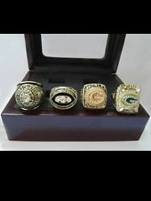 Green bay packers super bowl replica ring set of 4 rings! Favre.Rodgers.Starr