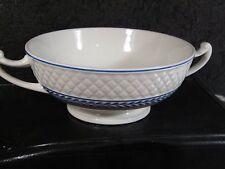 Copeland Spode Mansard #1290 ELAINE Handled Cream Soup Bowl Blue Laurel