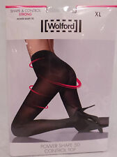 WOLFORD POWER SHAPE 50 CONTROL TOP BLACK TIGHTS NIB SIZE XL RRP £27