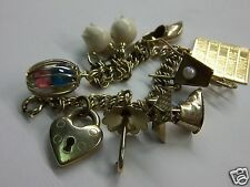 VINTAGE 1/20 12K GOLD FILLED J.B CHARM BRACELET WITH WINARD CHARMS