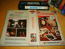 Vhs *MADHOUSE (THERE WAS A LITTLE GIRL)* 1981 Pre Cert Oz Roadshow Issue Horror!