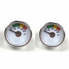 New 2 x 3000 PSI Paintball Micro Gauge-CO2 use