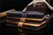 Map Leather Case Wallet Cover with Credit Card holder for iPhone 6 Plus (5.5'')