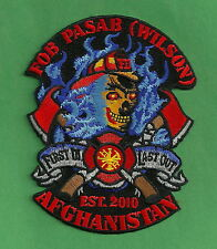 PASAB (WILSON) MILITARY FORWARD OPERATING BASE AFGHANISTAN FIRE RESCUE PATCH