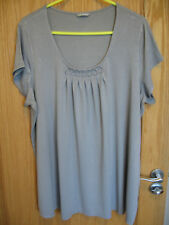 Ladies M&S Woman T Shirt Top size:22 Grey VGC
