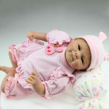 "18"" Cute Handmade Reborn Baby Girl Silicone Vinyl Doll Newborn Lifelike Dolls"