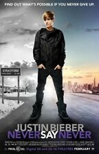 JUSTIN BIEBER Movie Poster - Medium Size 13x20 Print ~ Never Say Never Poster
