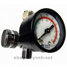 ANEST IWATA Hand Pressure Gauge AJR-02S-VG Air Regulator for Spray Guns Japan