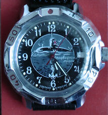 Wrist Mechanical Watch VOSTOK KOMANDIRSKIE Submarine Captain Military 811831