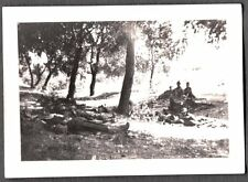 1910-19 USA-MEXICO BORDER WAR REVOLUTION SOLDIERS ON PICKET LINE #2 OLD PHOTO