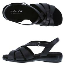 NEW CUTE BLACK SLINGBACK  WEDGE SIZE 12 WIDE BY COMFORT PLUS---185