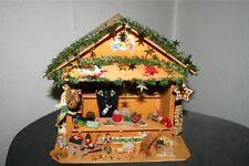 Weihnachten Erzgebirge Holz Figuren Sammlung Weihnachtsmarkstand Verkaufsstand