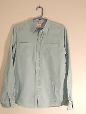 Women's Mossimo Supply Co. Pale Green & White Stripe Long SLeeve Blouse Size M