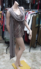 Joseph Ribkoff 12 BNWT Gorgeous Taupe Sequin Cami +Wrap Jacket Mock Twin Set Top