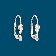 24 Sterling Silver 925 Lever Back Split Ring Earring