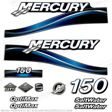 2005 Blue Mercury 150hp Saltwater Optimax Outboard Engine Decals Reproductions