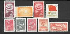 CINA CHINA  lot lotto 9 stamps