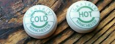 Pair Hot & Cold Ceramic Tap Inserts / Indices  Tops Gratrix Manchester 23mm