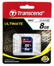 Carte mémoire TRANSCEND ULTIMATE 8 GO SD classe 10