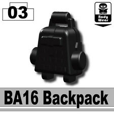 BA16 (W9)Backpack Army Tactical Equipment compatible with toy brick minifig stud