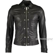 Diesel BLACK Lamb Leather Jacket XL-New Authentic RRP950GBP