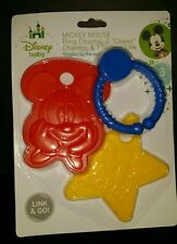 """DISNEY BABY MICKEY MOUSE LINK N GO RING CHARMS: 2 """"CHEWY"""" CHARMS &1 TEETHER LINK"""