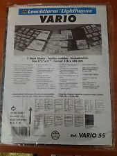 Lighthouse Vario 5S stock sheets/pages, Black. New Package of 5! Double-sided!