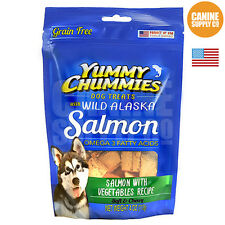 Yummy Chummies Salmon with Vegetables Recipe Dog Treats (Soft & Chewy), 4-Ounce