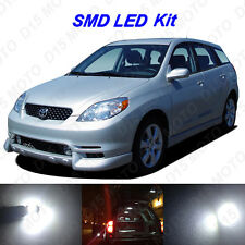 5x Ultra White LED Lights Interior Bulbs Package kit for 2003-2008 Toyota Matrix