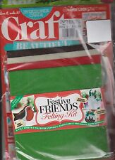 CRAFTS BEAUTIFUL MAGAZINE CHRISTMAS 2013, FREE13-PIECE FESTIVE FELT KIT, SEALED.