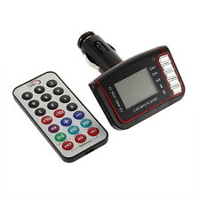 LCD Car MP3 Player Wireless BY Transmitter USB TF Card + Remote Control BY