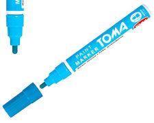 Azul claro permanente Base de Aceite Pintura Pluma Marcador De Metal Neumático De Bicicleta Coche Impermeable