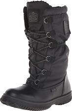 Coach Sage Nylon/Leather Cold Weather Hiking Snow Boots Black 6.5 Nib