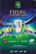 Toulon v Saracens 24 May 2014 Heineken European CUP FINAL RUGBY PROGRAMME