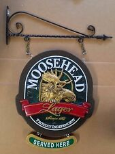 "Moosehead ""Served Here"" double sided sign - NEW"