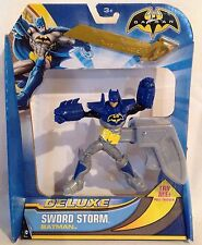 "Batman Deluxe Sword Storm Batman 6"" Figure NEW Pull Trigger For Fighting Action"