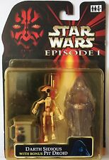 Star Wars Action Figure of HOLOGRAPHIC DARTH SIDIOUS With Bonus PIT DROID 3.75""