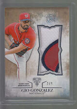 2015 Topps Triple Threads 3 Color Jumbo Jersey Patch Gio Gonzalez 2/9 Nationals