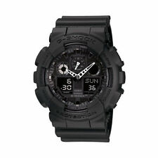Casio G-Shock GA100-1A1 Resin Quartz Watch Black with Black Dial