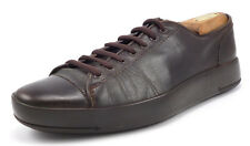 Prada Men's Shoes Size 6.5, 7.5 US Leather Lace Up Sneakers Brown