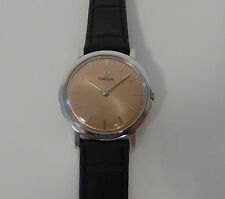 Vintage From 1970 Unisex Omega Slim Dress Case Copper Dial One Year Warranty 158