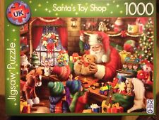 1000 PIECE JIGSAW PUZZLE FX SCHMID SANTAS TOY SHOP