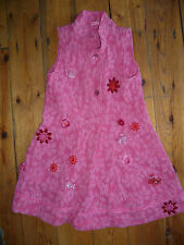 OILILY AGE 5-6 GIRLS LOVELY PINK SLEEVELESS DESIGNER DRESS GOOD CONDITION