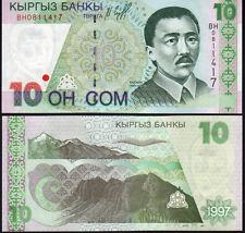 Kyrgyzstan 10 Som Pick 14 1997 Mint Unc