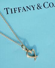 Tiffany & Co Paloma Picasso 18Ct 18K Gold Mini Loving Heart Pendant Necklace
