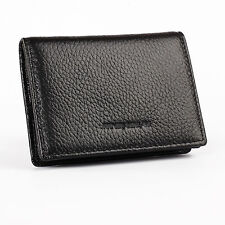 Men office Leather Expandable Business Credit ID Name Card Holder Case Wallet